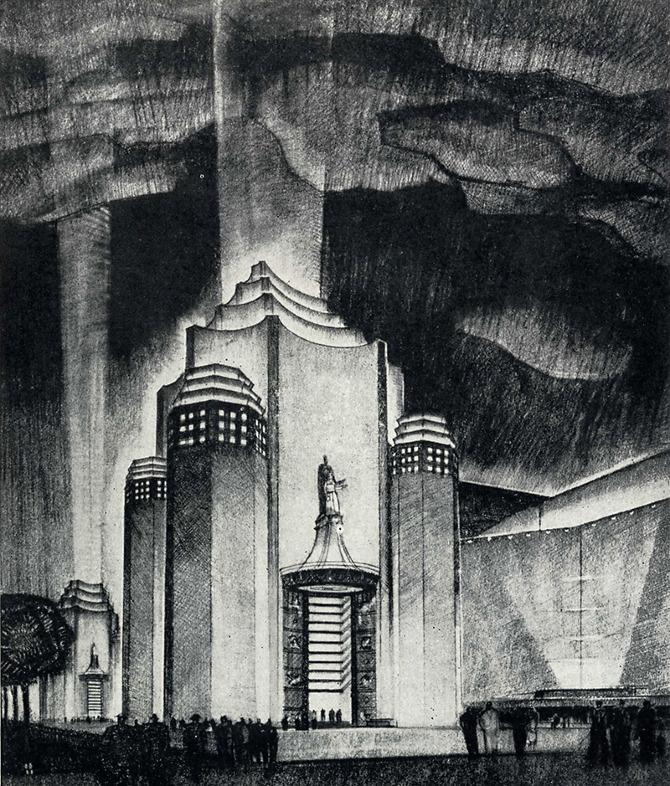 William Merchant. Pencil Points 18 June 1937, 387