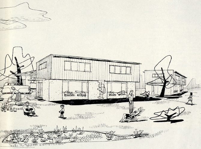 Skidmore Owings Merrill Andrews. Architectural Forum 78 March 1943, 50