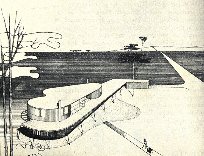 Theodore Luderowski. Architectural Forum 79 September 1943, 92