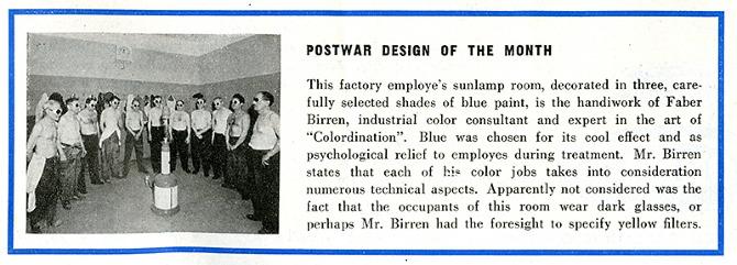Faber Birren. Architectural Forum 81 July 1944, 6