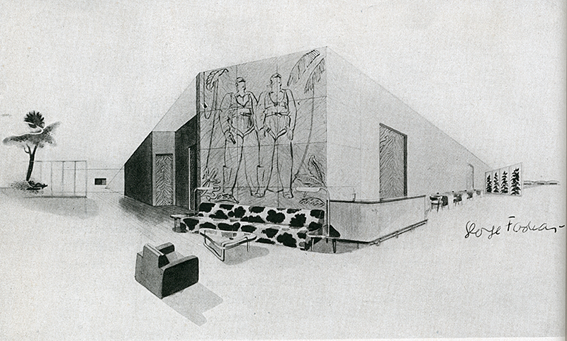 George Farkas. Interiors v.104 n.1 Aug 1944, 38