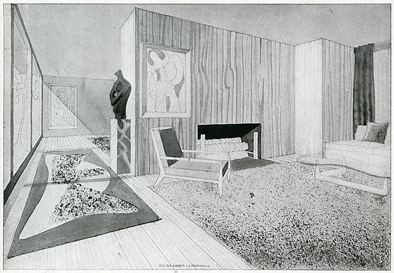 T. H. Robsjohn Gibbings. Interiors v.104 n.6 Jan 1945, 88