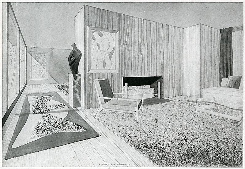T. H. Robsjohn Gibbings. Interiors v.104 n.6 Jan 1945, 88