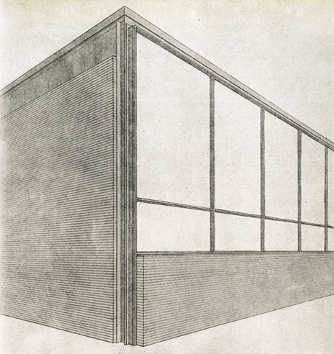 Mies van der Rohe. Architectural Record 100 December 1946, 85