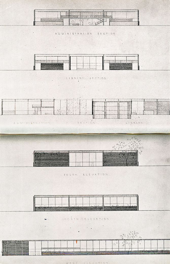 Mies van der Rohe. Architectural Record 100 December 1946, 86