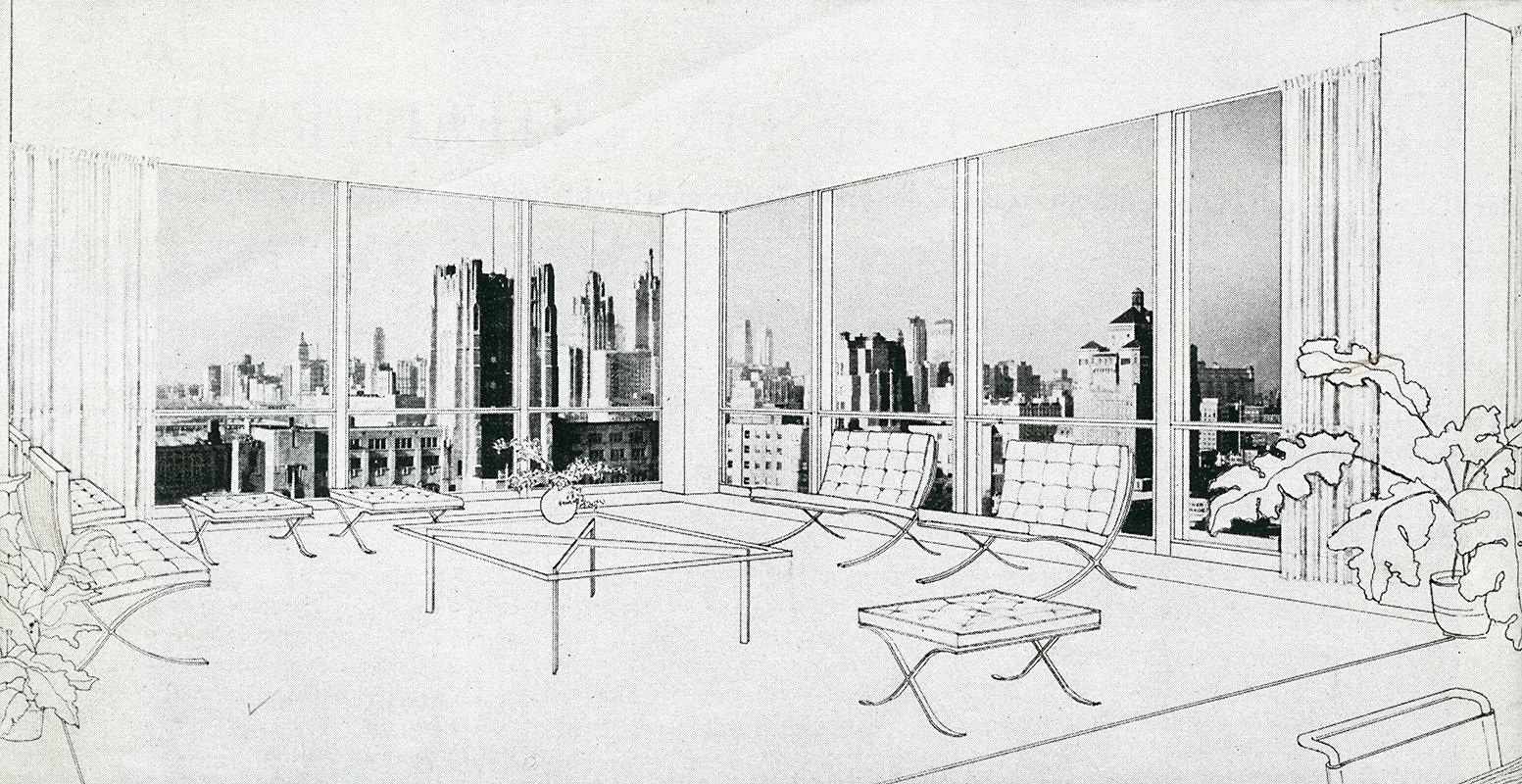 Home Designs And Floor Plans Mies Van Der Rohe Architectural Forum Jan 1950 76 Rndrd