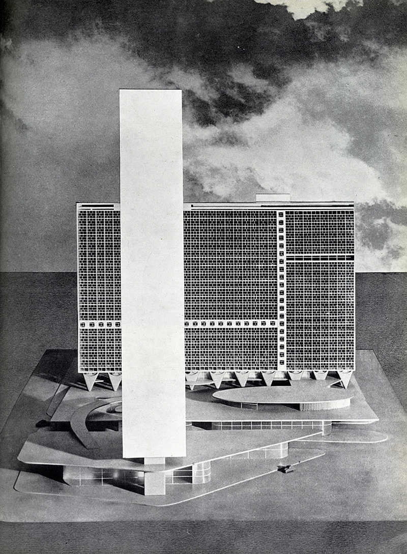 Oscar Niemeyer. Architecture D'Aujourd'Hui v. 25 no. 52 Feb 1954, 27