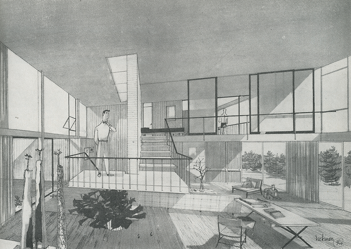 Vernon G. Leckman. Arts and Architecture. Jul 1954, 14