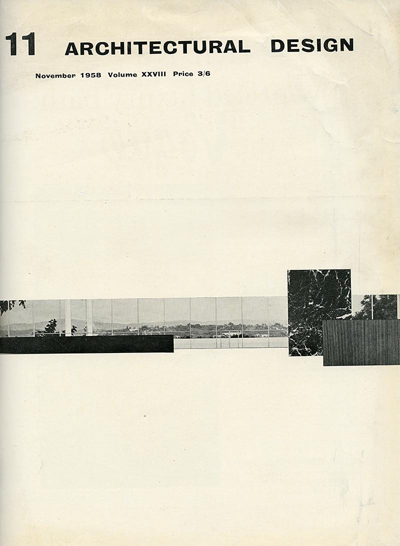Mies van der Rohe. Architectural Design v.28 Nov 1958, cover