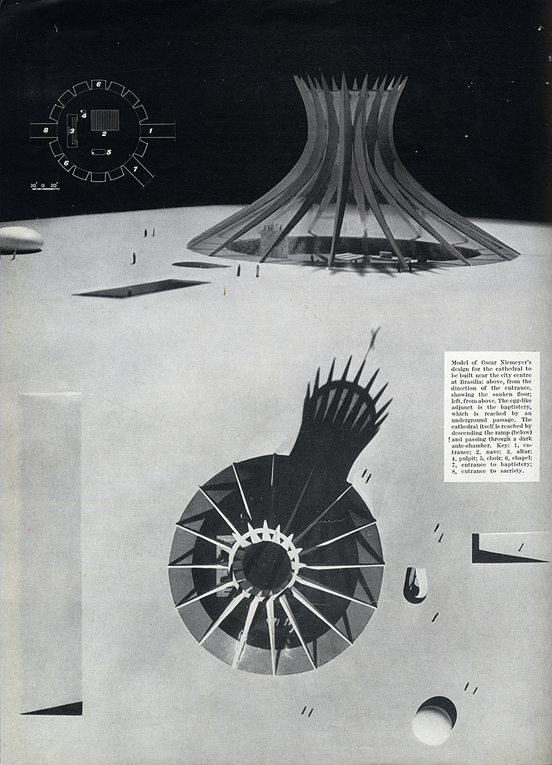 Oscar Niemeyer. Architectural Review v.125 n.745 Feb 1959, 102