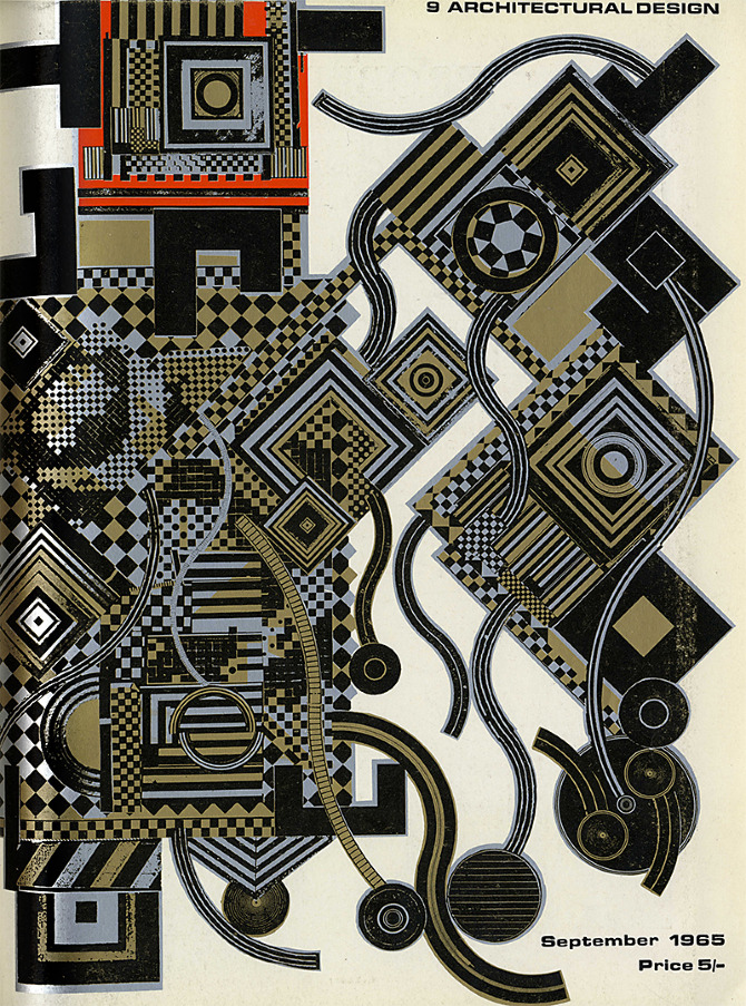 Eduardo Paolozzi. Architectural Design 35 September 1965, cover