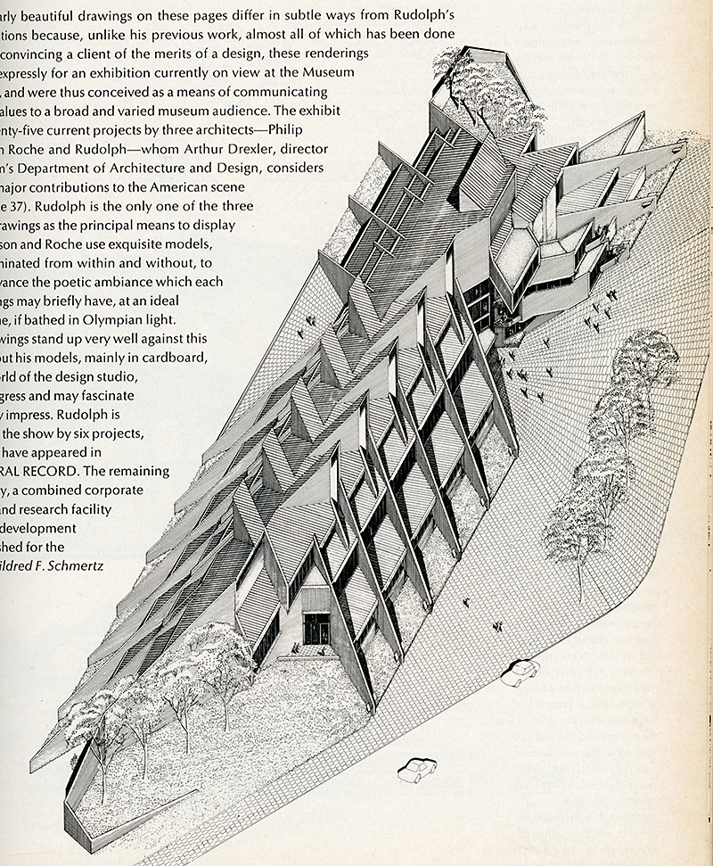 Paul Rudolph. Architectural Record. Nov 1970, 89