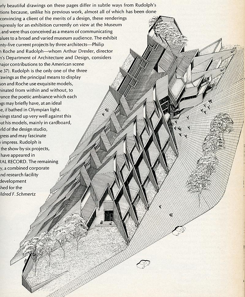 Paul Rudolph. Architectural Record. Nov 1970, 89