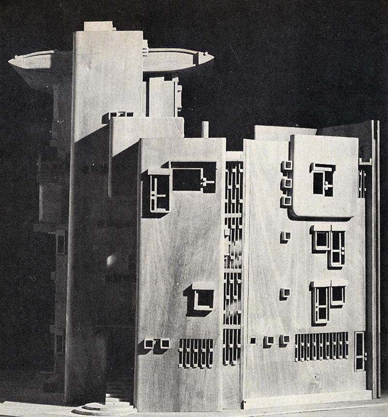 L. Savioli. Architectural Record. Feb 1974, 108