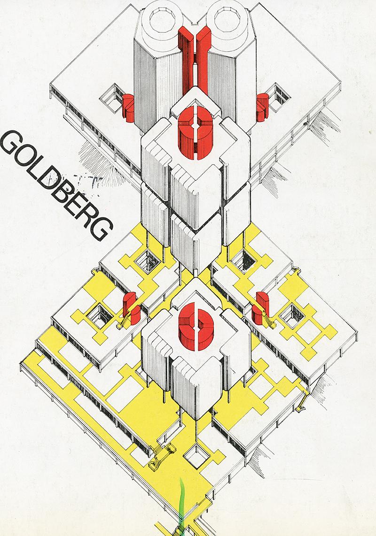 Bertand Goldberg. A+U 07 1975, cover