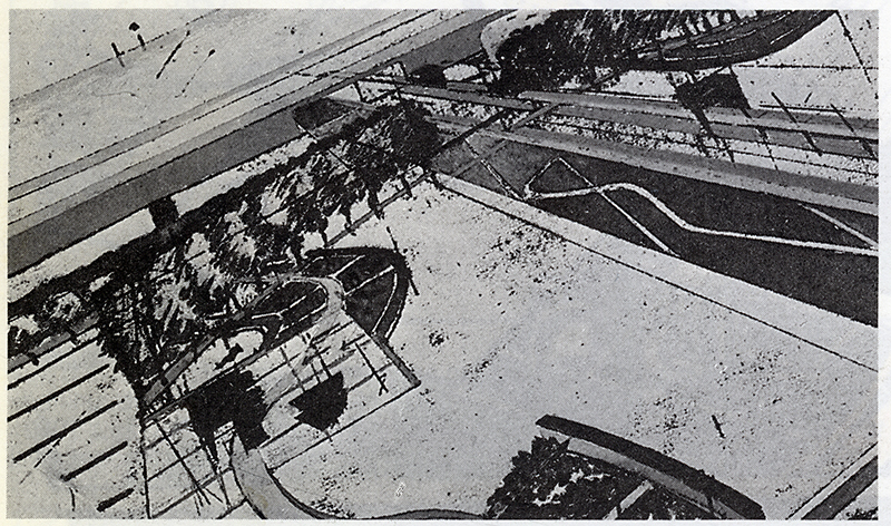 Bernard Tschumi. L'invention du parc. Graphite 1984, 24
