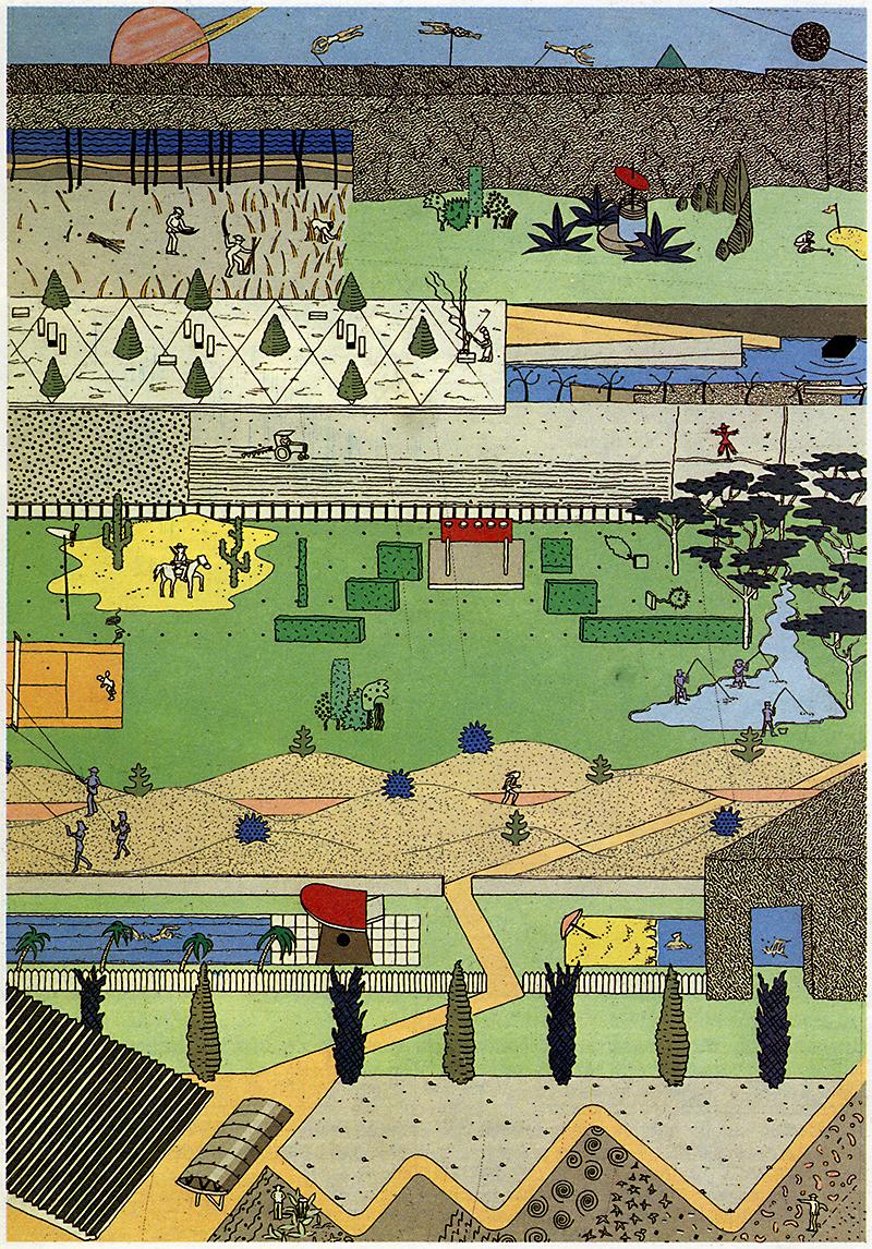 OMA. L'invention du parc. Graphite 1984, 44
