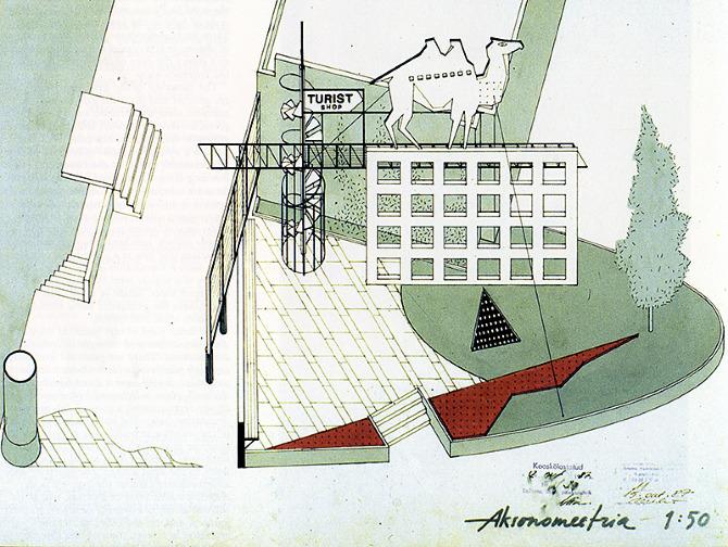 Juri Okas. Arkkitehti 86 March 1989, 44