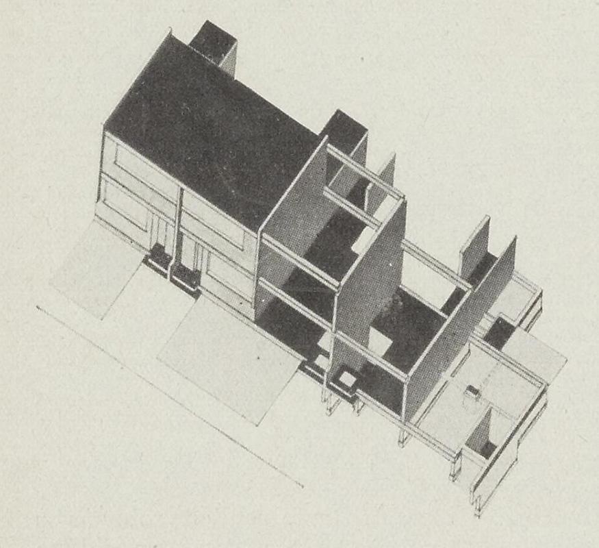 Walter Gropius. Bauhaus 1-2 1927, 1