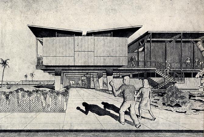 Walter Gropius and Konrad Wachsmann. Architectural Forum 77 August 1942, 83