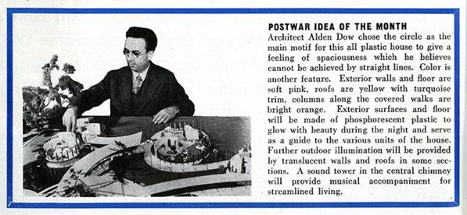 Alden Dow. Architectural Forum 80 January 1944, 6