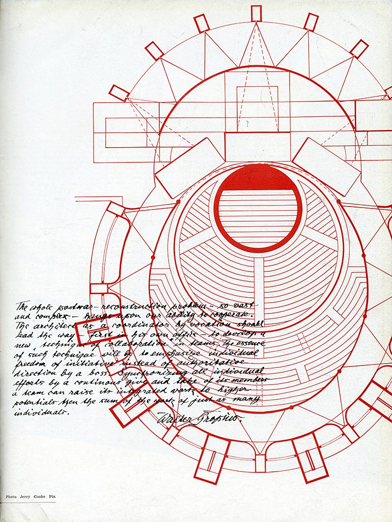 Walter Gropius. Architecture D'Aujourd'Hui v. 20 no. 28 Feb 1950, 3
