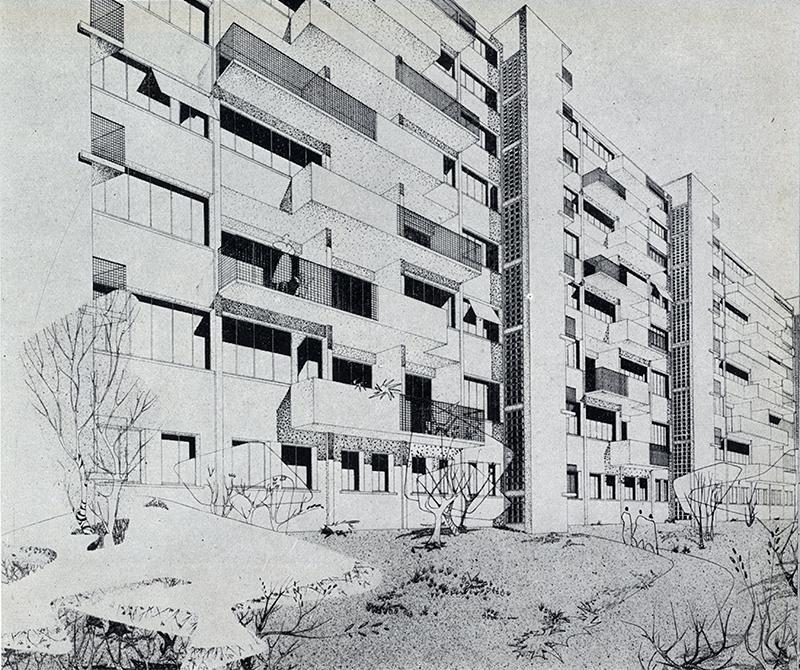 H. Pottier. Architecture D'Aujourd'Hui v. 25 no. 57 Dec 1954, 33