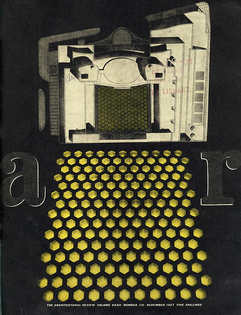 David du R. Aberdeen. Architectural Review v.122 n.731 Dec 1957, cover
