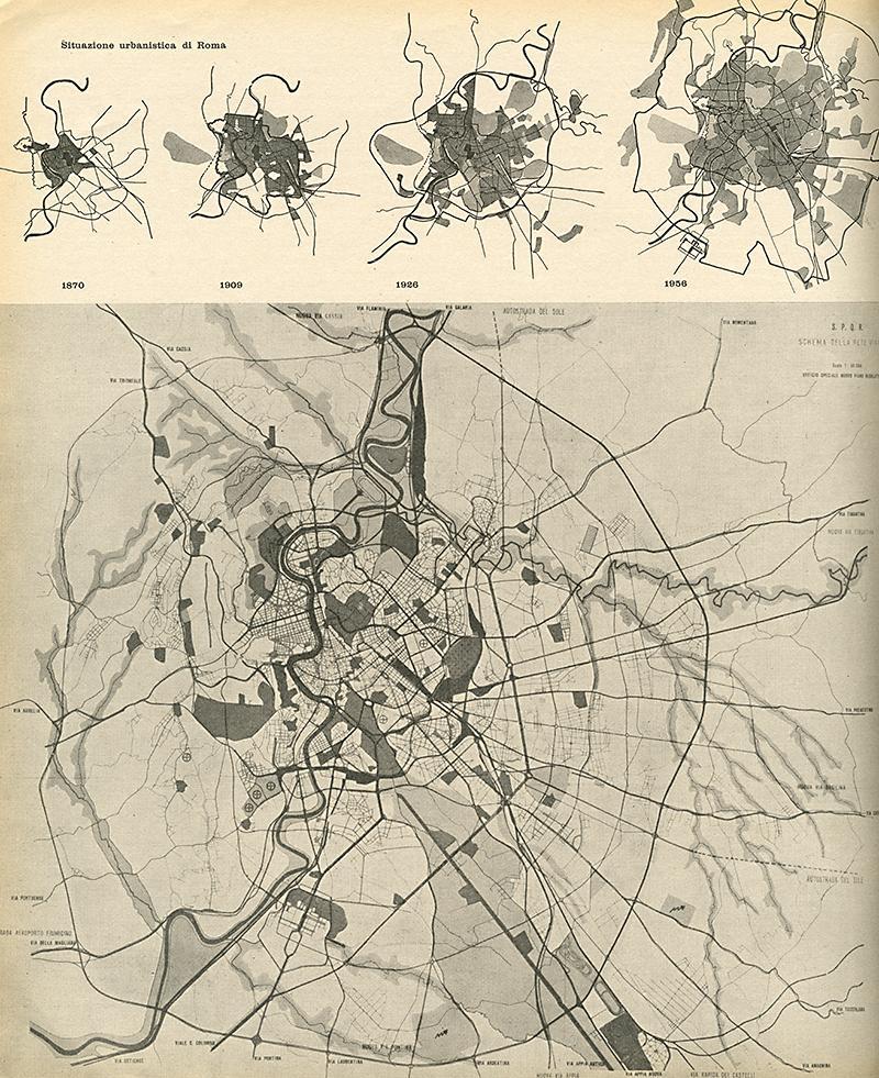 Ufficio Speciale Nuovo Piano Regolatore di Roma. Casabella 219 1958, 12