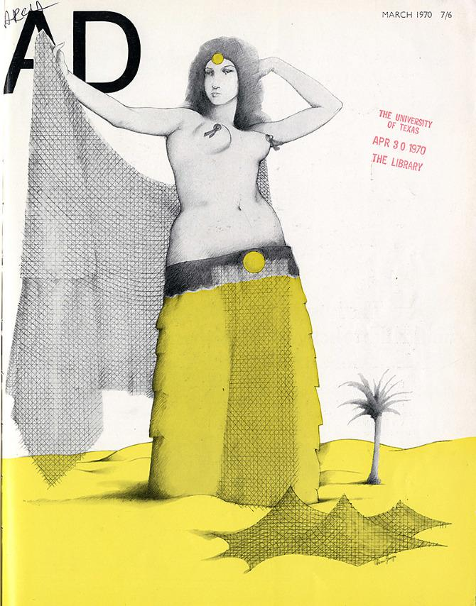 Adrian George. Architectural Design 40 March 1970, cover