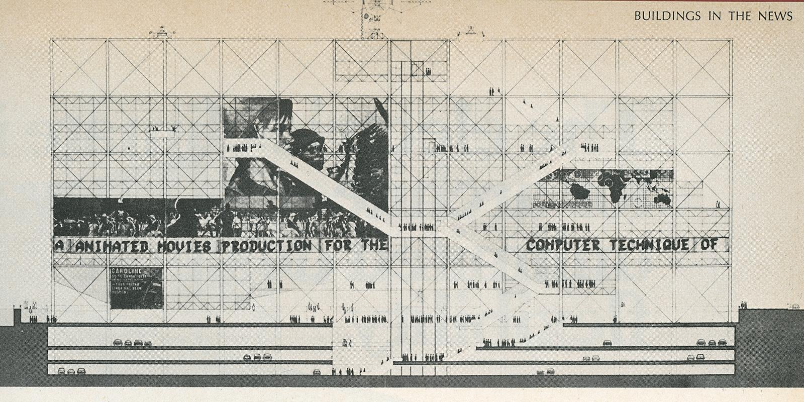 Richard Rogers and Renzo Piano. Architectural Record. Oct 1971, 45