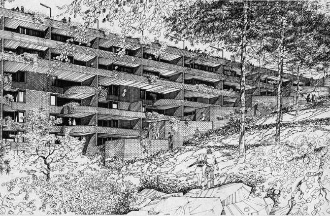 Lee Harris Pomeroy. Progressive Architecture 54 January 1973, 74