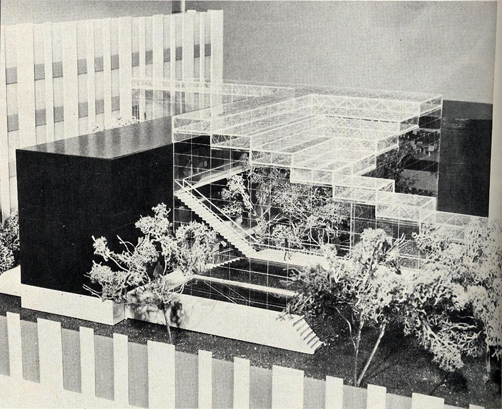 Ford and Earl. Architectural Record. Jan 1974, 40
