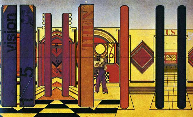 Lebbeus Woods. Progressive Architecture 55 January 1975, 2