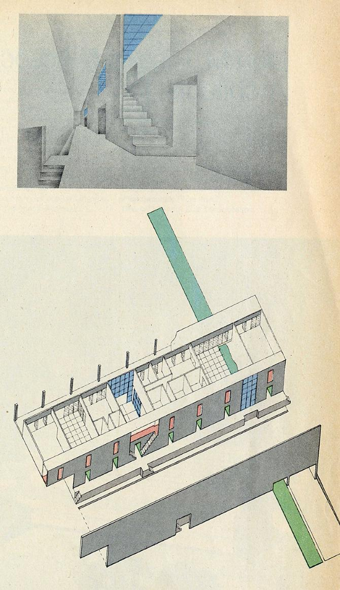 Remment Koolhass and Laurinda Spear. Progressive Architecture 56 January 1975, 47
