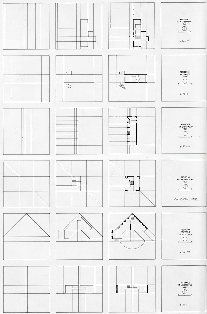 Mario Botta. GA Houses. 3 1977, 72