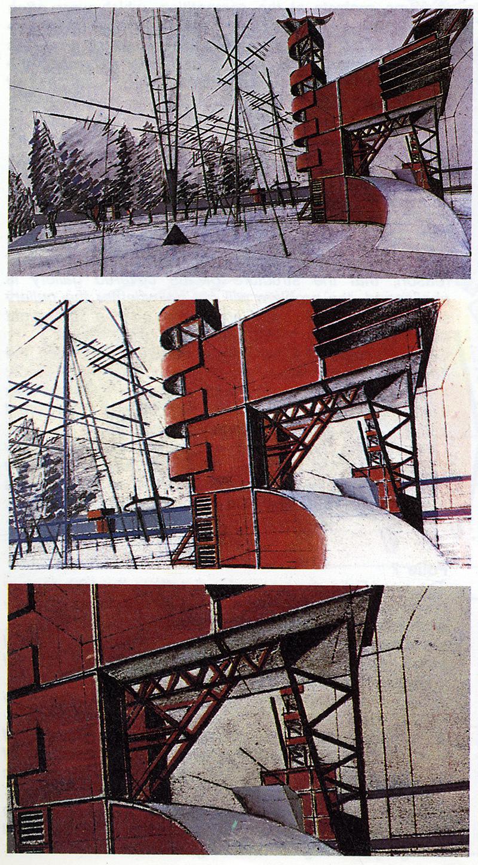 Bernard Tschumi. L'invention du parc. Graphite 1984, 27