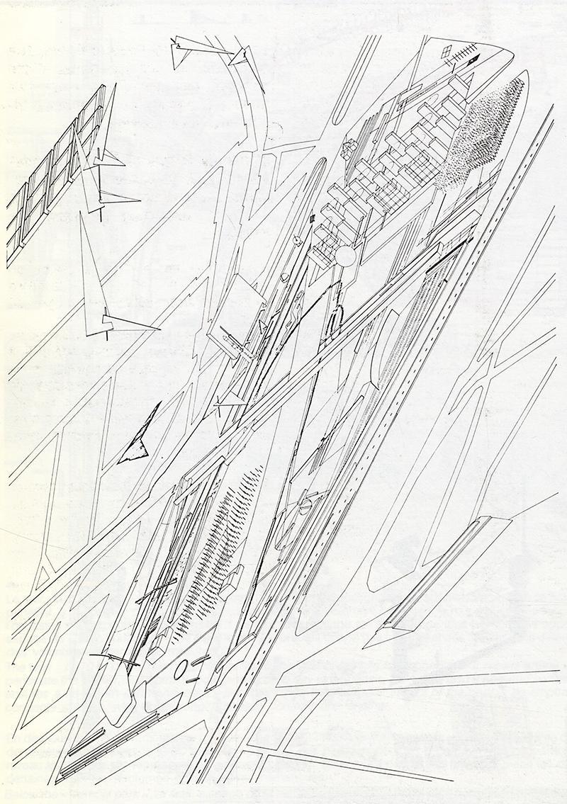 Zaha Hadid. L'invention du parc. Graphite 1984, 77