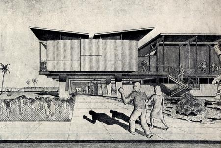 Walter Gropius and Konrad Wachsmann. Architectural Forum 77 August 1942, 83
