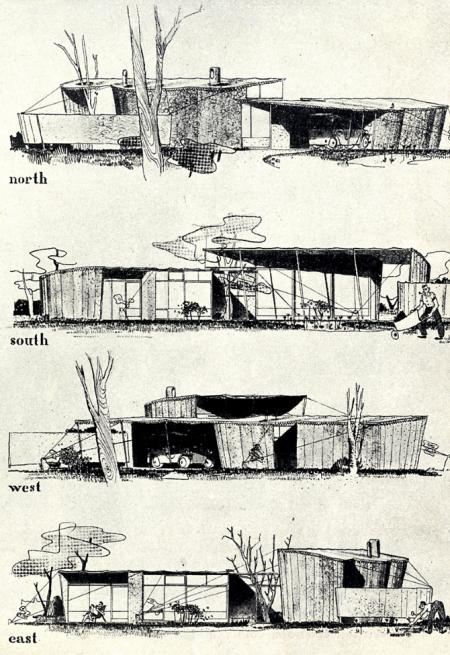 Ralph Rapson and David Runnels. Architectural Forum 79 September 1943, 93