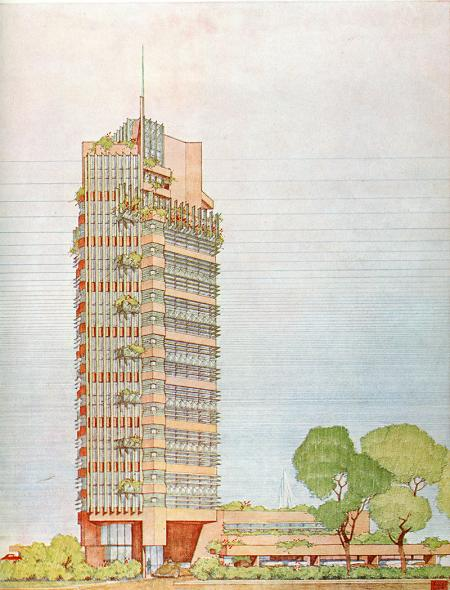 Frank Lloyd Wright. Architectural Forum May 1953, 99