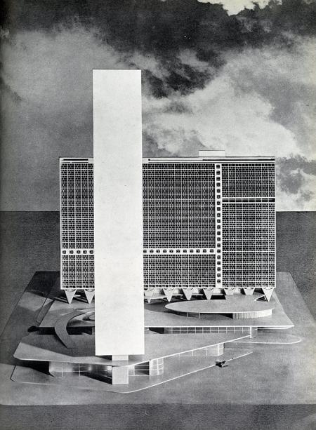 Oscar Niemeyer. Architecture D'Aujourd'Hui v. 25 no. 52 Feb 1954, 27