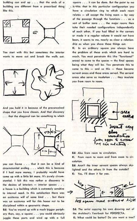 Louis Kahn. Perspecta 7 1961, 13