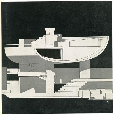 C. Caldini, W. Natali, M. Preti. Casabella 312 1967, cover