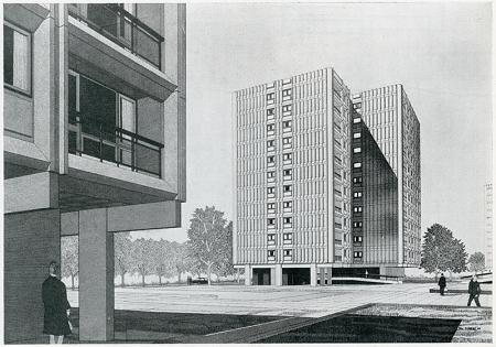 Edward D Mills. Architectural Review v.143 n.851 Jan 1968, 73