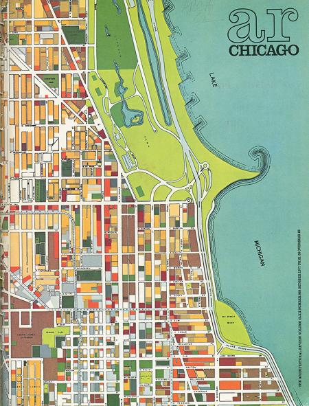 Chicago Department of Development and Planning. Architectural Review v.162 n.968 Oct 1977, cover
