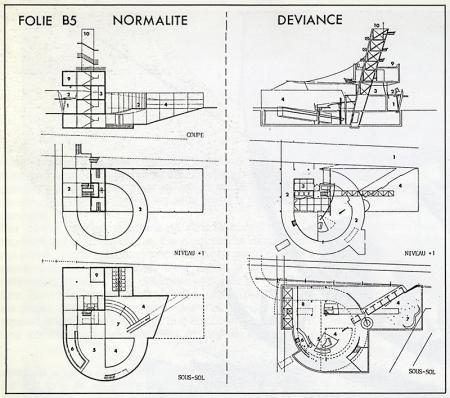 Bernard Tschumi. L'invention du parc. Graphite 1984, 32